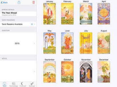 Tarot & Numerology App for iOS on iPad