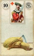 Lenormand Card 10 Scythe Meaning & Combinations