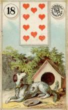 Lenormand Card 18 Dog Meaning & Combinations