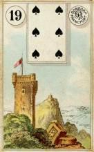 Lenormand Card 19 Tower Meaning & Combinations