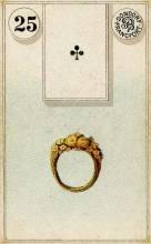 Lenormand Card 25 Ring Meaning & Combinations