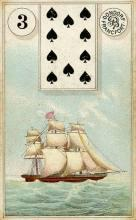 Lenormand Card 3 Ship Meaning & Combinations