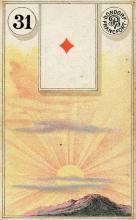 Lenormand Card 31 Sun Meaning & Combinations