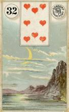 Lenormand Card 32 Moon Meaning & Combinations