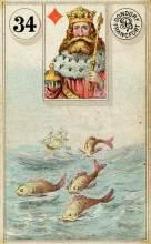 Lenormand Card 34 Fish Meaning & Combinations