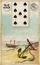 Lenormand Card 35 Anchor Meaning & Combinations