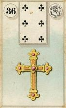 Lenormand Card 36 Cross Meaning & Combinations