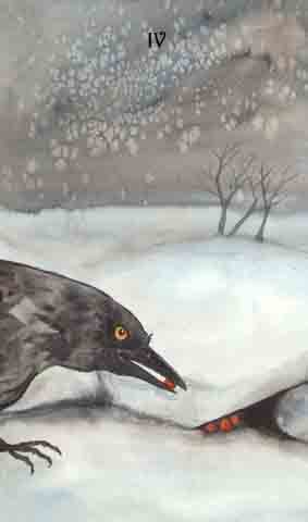4 of Crows (Pentacles)