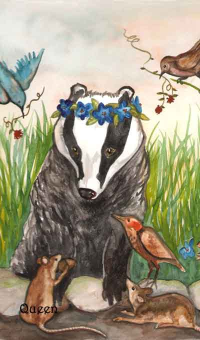 Badgers Forest Tarot, Sample Card