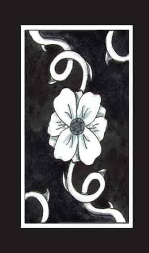BlueDogRose Tarot Card Back