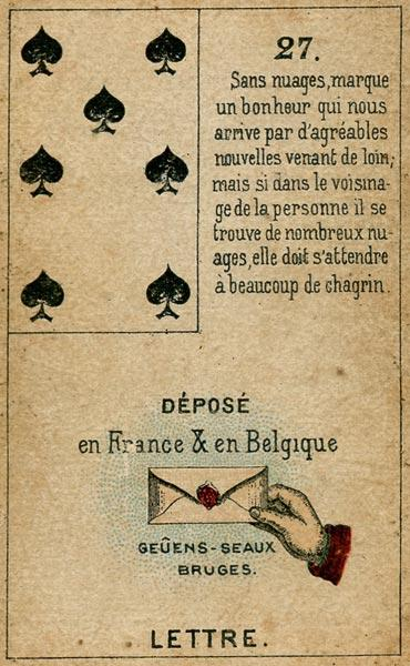 Petit Jeu Lenormand, Sample Deck card #2