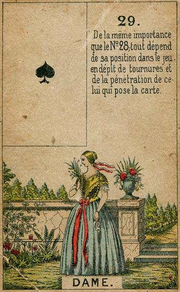 Petit Jeu Lenormand, Sample Deck card #4