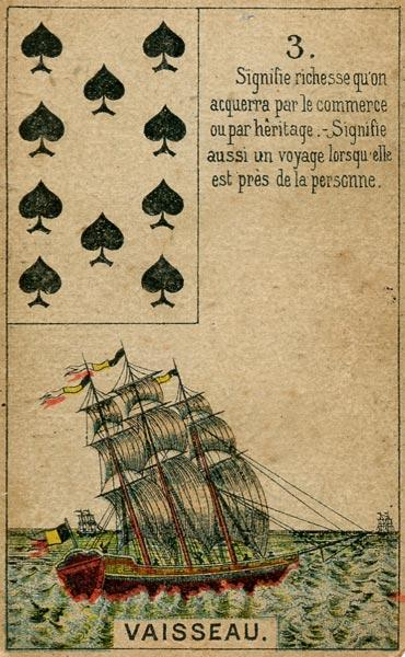 Petit Jeu Lenormand, Sample Card