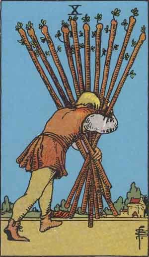10 of Wands Tarot Card