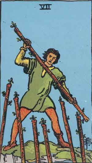 The 7 of Wands Tarot Card
