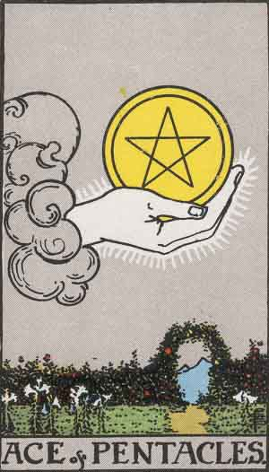 Ace of Pentacles Tarot Card