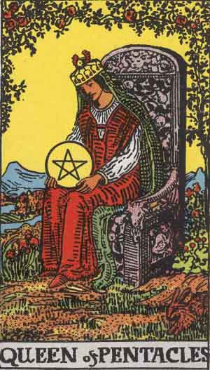 The Queen of Pentacles Tarot Card