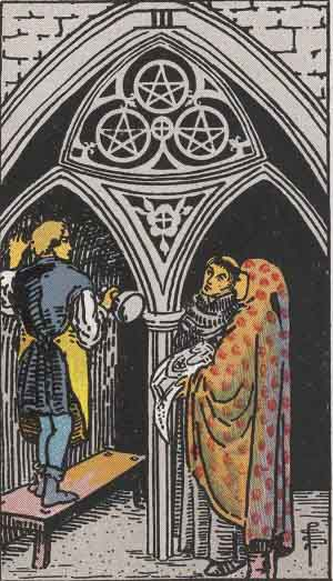 The 3 of Pentacles Tarot Card