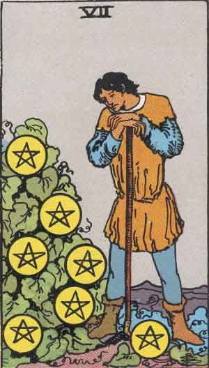 The 7 of Pentacles Tarot Card