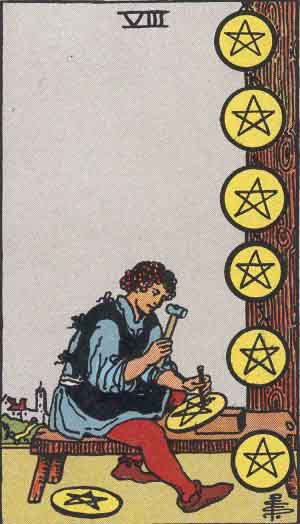 The 8 of Pentacles Tarot Card