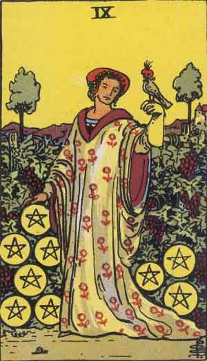 The 9 of Pentacles Tarot Card