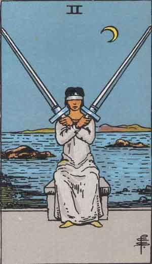 The 2 of Swords Tarot Card
