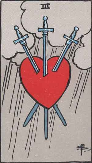The 3 of Swords Tarot Card