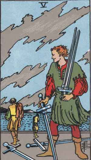 The 5 of Swords Tarot Card