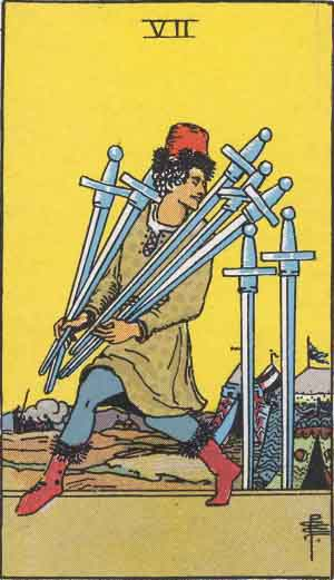 The 7 of Swords Tarot Card