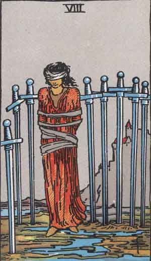The 8 of Swords Tarot Card