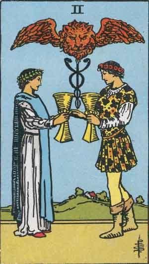 The 2 of Cups Tarot Card