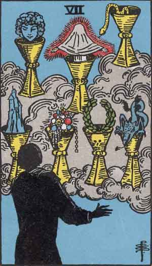 The 7 of Cups Tarot Card
