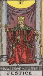 Justice Tarot card meaning and interpretation