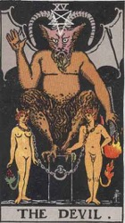 The Devil Tarot card meaning and interpretation
