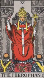 The Hierophant Tarot card meaning and interpretation