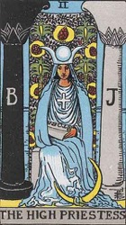 The High Priestess Tarot card meaning and interpretation