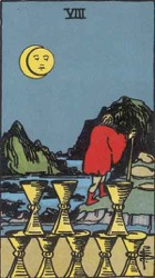 The Eight of Cups Tarot card meaning and interpretation