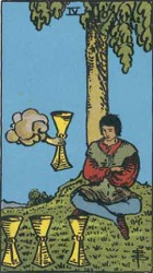 four of Cups Tarot card meaning and interpretation