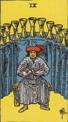 The Nine of Cups Tarot card meaning and interpretation