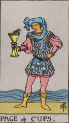 Page of Cups Tarot card meaning and interpretation
