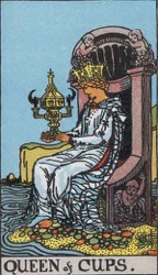 Queen of Cups Tarot card meaning and interpretation