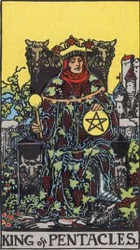 King of Pentacles, or King of Coins, Tarot card meaning and interpretation