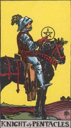 Knight of Pentacles Tarot card meaning and interpretation