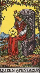 Queen of Pentacles Tarot card meaning and interpretation
