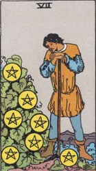 7 of Pentacles, 7 of Coins, Tarot card meaning and interpretation