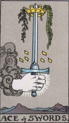 Ace of Swords Tarot card meaning and interpretation