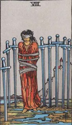 Eight of Swords Tarot card meaning and interpretation