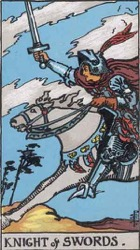 Knight of Swords Tarot card meaning and interpretation