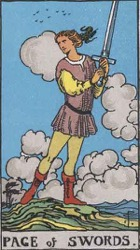 Page of Swords Tarot card meaning and interpretation