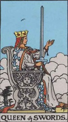 Queen of Swords Tarot card meaning and interpretation